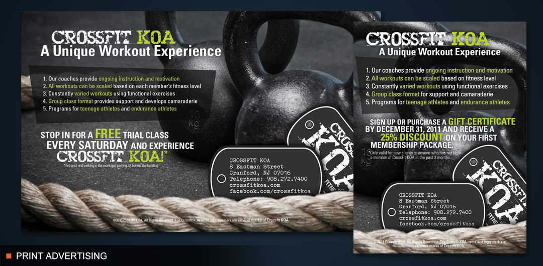 Sports and Fitness Company Advertising
