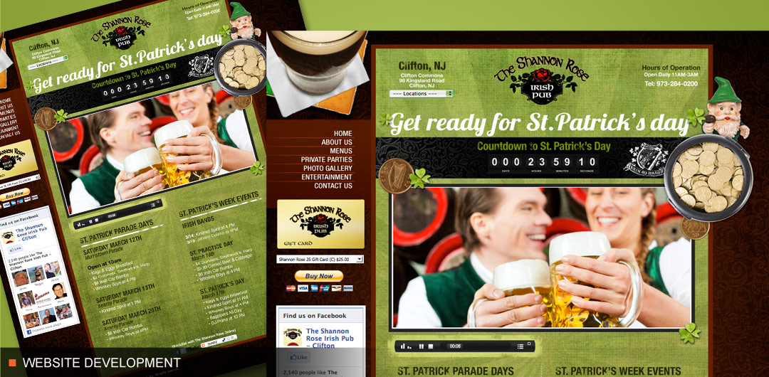 Website development for franchise Organization