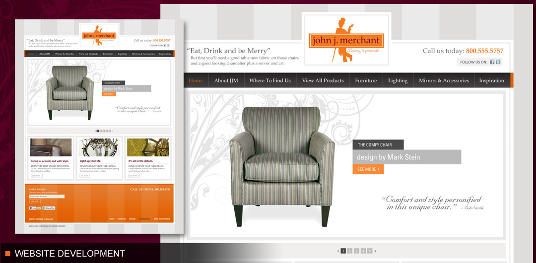 Website development for online niche retailer john j. merchant