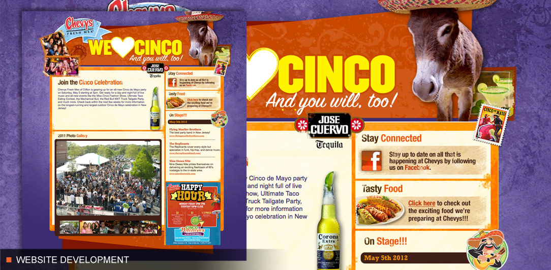Chevys Fresh Mex Cinco NJ Website
