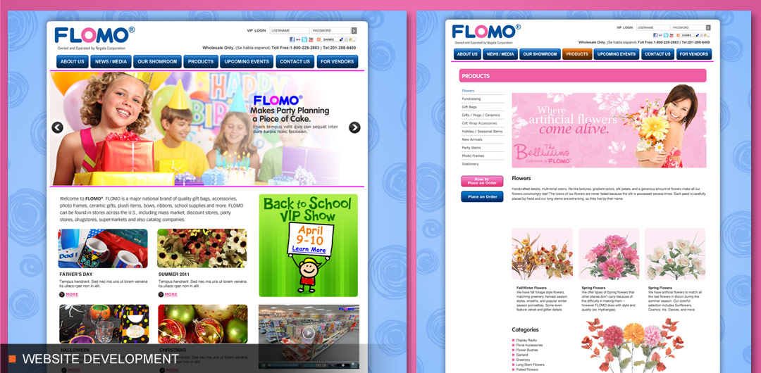 Website development for global retailer