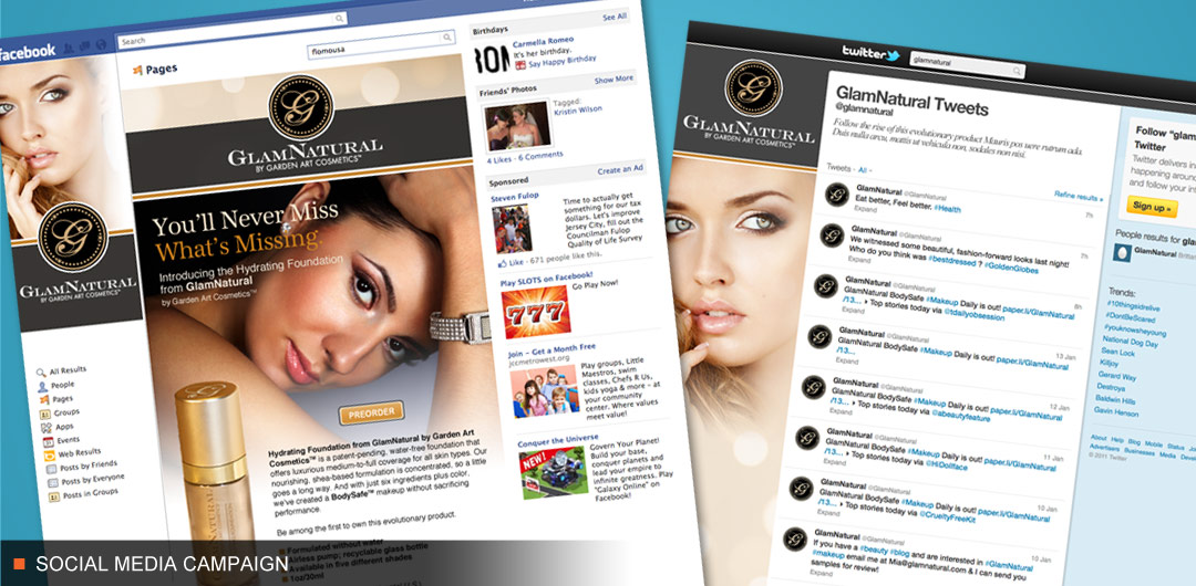 Social Media Development for cosmetics company