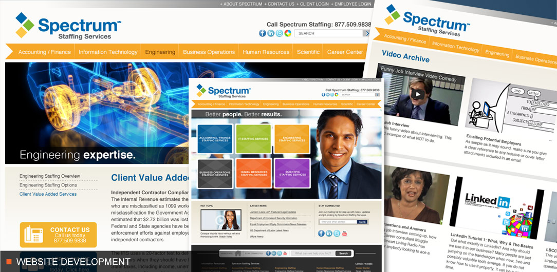 Spectrum Staffing website