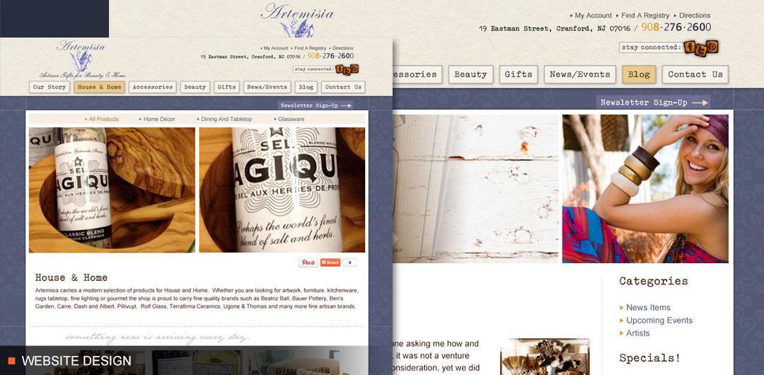 Website Blog and Social Media for Artemisia