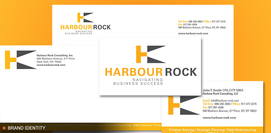 Unique brand identity for HarbourRock