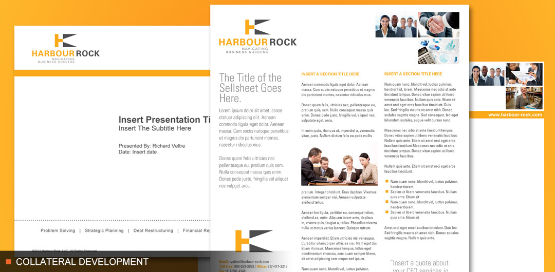 HarbourRock corporate collateral including powerpoint and sellsheet
