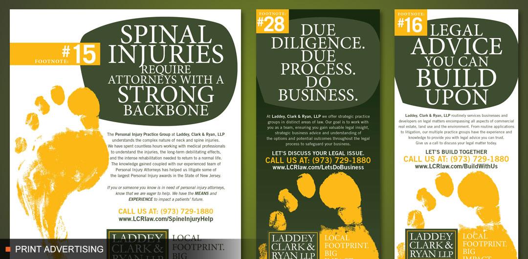 8fold print advertising for Laddey, Clark & Ryan LLP