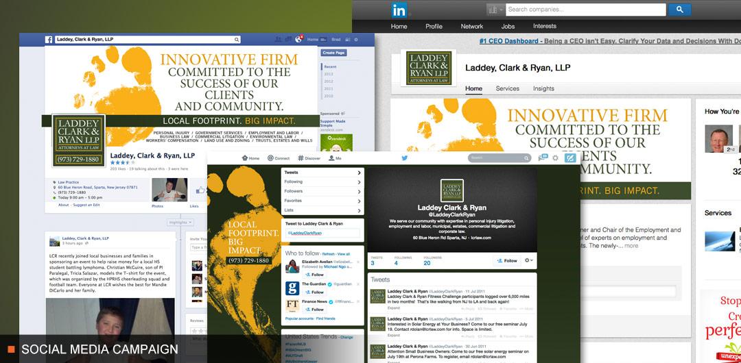 8fold social media integration for Laddey, Clark & Ryan LLP