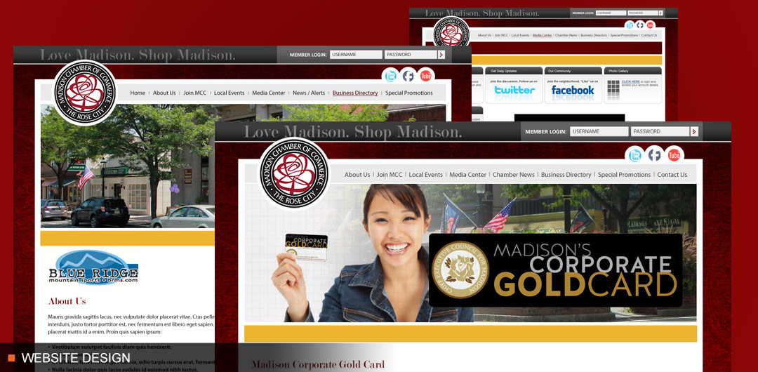 Madison Chamber of Commerce Website and Corporate Gold Card