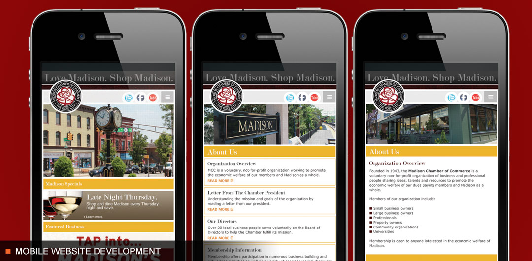 Madison Chamber of Commerce Mobile Website